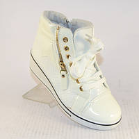 Белые ботинки сникерсы для девочки