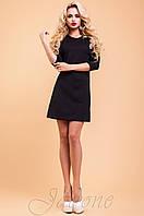 Трикотажное черное платье-туника Шалли 42-48 размеры Jadone