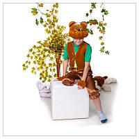 Карнавальный костюм Мишка коричневый 3-7 лет. Детский маскарадный костюм на праздник Осени