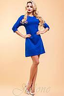 Трикотажное платье-туника Шалли электрик 42-48 размеры Jadone