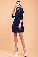 Трикотажное темно-синее платье-туника Шалли 42-48 размеры Jadone