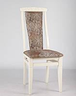 """Деревянный стул """"Чумак-2"""" (слоновая кость) ткань Женева Coffee Микс Мебель, фото 1"""