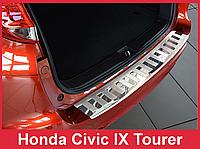 Накладка на задний бампер из нержавейки Honda Civic 9 IX Tourer (2014-)