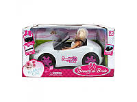 Кукла с машинкой K877-30D Beautiful Bride, белое авто, невеста, ремень безопасности, фата
