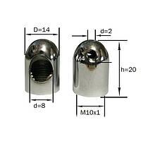Крепёж троса (с отверстием под провод и внутренней резьбой М10х1) С зажимным винтом (для троса без напайки)