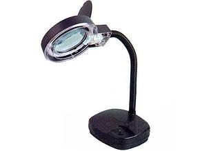 ZD-123 настольная лампа с увеличительным стеклом 3+8Х 90мм +подсветка