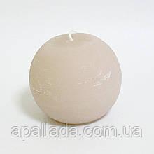 Свеча в форме шара 8см, цвет - льняной