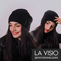 Женская двухсторонняя шапка, Ла Визио (Черный)