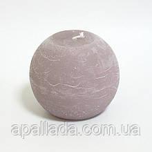 Свеча в форме шара 8см, цвет - розово-коричневый