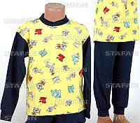 Детская пижама на мальчика интерлок AYL D21 7-R. Размер на 7 лет.