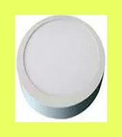 Светодиодный светильник круг накладной LEDEX Premium 16Вт  4000 К алюминий тонкий