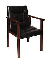 Офісний дерев'яний стілець для відвідувачів коричневий від виробника