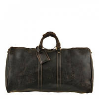 Кожаная дорожная сумка G3264В коричневая