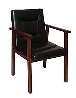 Офисное деревянное кресло, офисный стул, стул для посетителей, фото 1