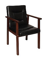 Офісне дерев'яне крісло, офісний стілець, стілець для відвідувачів