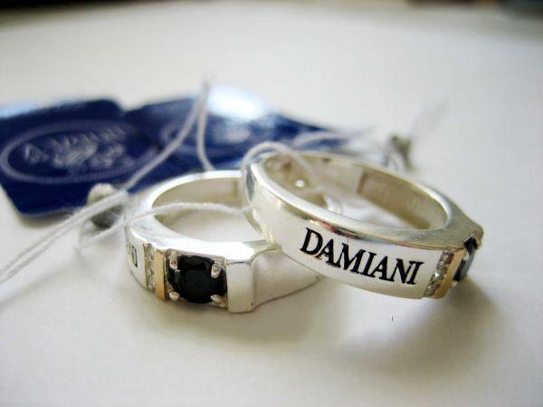 Серебряное кольцо печатка Дамиани