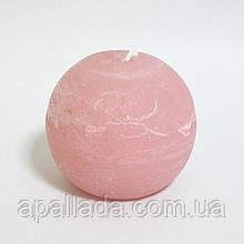 Свеча в форме шара 8см, цвет - персиковый