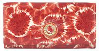 Стильный оригинальный прочный кожаный качественный женский кошелек MORO art. MR-85-21E красный