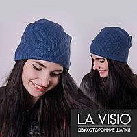 Женская двухсторонняя шапка, Ла Визио (Джинс)