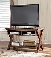 Стол консоль под ТВ и аппаратуру из дерева 058