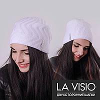 Женская двухсторонняя шапка, Ла Визио (Белый)