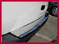 Накладка на задний бампер с загибом (Carmos, сталь) - Volkswagen T5 Transporter (2003-2010)