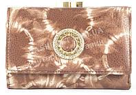 Стильный оригинальный прочный кожаный качественный женский кошелек MORO art. MR-85-22U коричневый