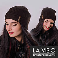 Женская двухсторонняя шапка, Ла Визио (Коричневый)