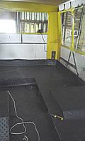 Мягкий настил пола салона (замена: автолин, клей, шнур для сварки линолеума,саморезы, алюм.профиля)