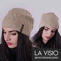 Женская двухсторонняя шапка, Ла Визио (Бежевый)