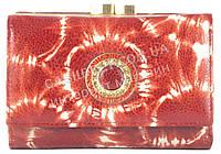 Стильный оригинальный прочный кожаный качественный женский кошелек MORO art. MR-85-22E красный