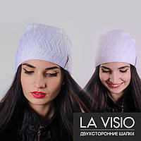 """Женская двухсторонняя шапка, """"La Visio"""" (Белый)"""