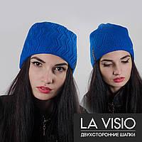"Женская двухсторонняя шапка, ""La Visio"" (Голубой)"