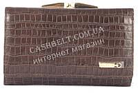 Небольшой оригинальный прочный кожаный качественный женский кошелек SALFEITE art. 2103SL-D72 коричневый