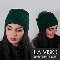 """Женская двухсторонняя шапка, """"La Visio"""" (Зеленый)"""