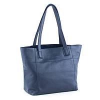 Кожаная сумка модель 3 синий флотар, фото 1