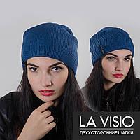 """Женская двухсторонняя шапка, """"La Visio"""" (Джинс)"""