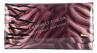 Лаковый оригинальный прочный кожаный качественный женский кошелек H.VERDE art. 2536-D46 фиолетовый