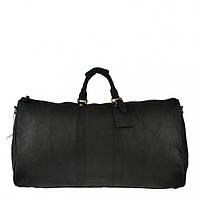Кожаная дорожная сумка G3264 черная
