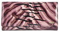 Лаковый оригинальный прочный кожаный качественный женский кошелек H.VERDE art. 2030-D46 фиолетовый