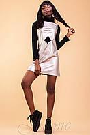 Молодежное платье-туника Юппи золотой металлик 42-46 размеры Jadone