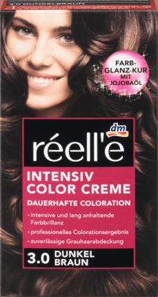 Крем - краска для волос réell'e Intensive Color Creme Dunkel Braun, 3.0 (темно-коричневый)