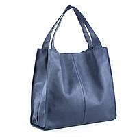 Кожаная сумка модель 12 синий флотар