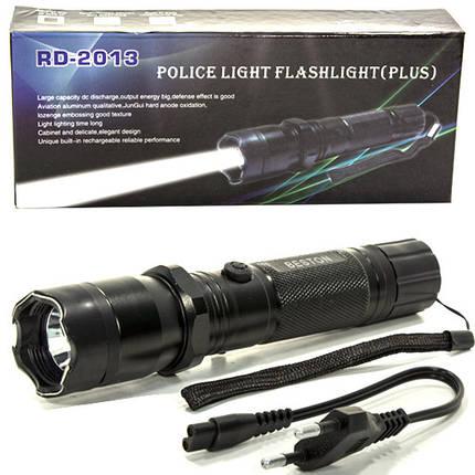 Фонарь ручной светодиодный Beston 2013 (Черный) аккумуляторный туристический, фото 2