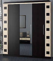 София шкаф 3Д (Мебель-Сервис)  венге светлый+венге темный 1780х540х2215мм
