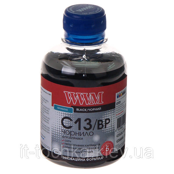 Чернила wwm для canon pg-510bk/pg-512bk/pgi-520bk 200г black Пигментные (c13/bp)