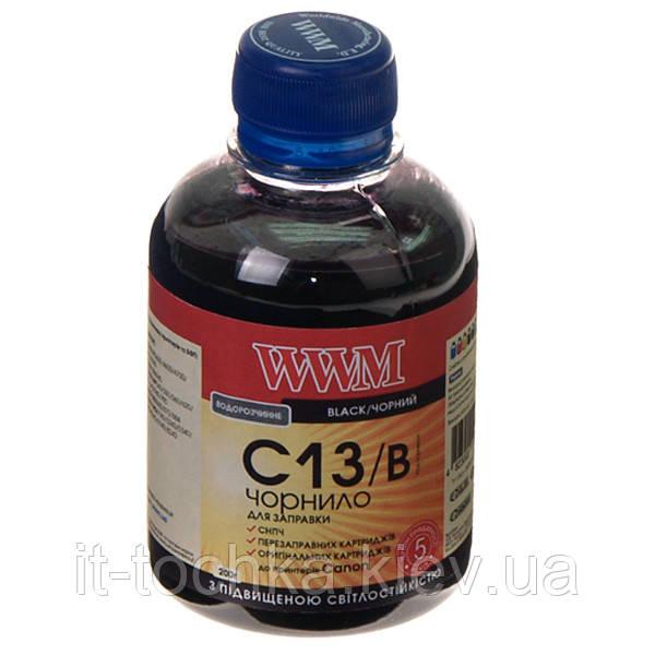 Чернила wwm для canon cli-521b/cli-426b 200г black Водорастворимые (c13/b) с повышенной светостойкостью