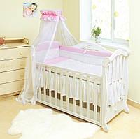Детский постельный комплект Twins Evolution A-009 Снежная королева 7 предметов, розовый