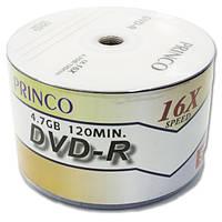 Диск DVD R PRINCO 4,7 GB двд 16х 50 шт bulk 50 pc для записи информации видео музыки