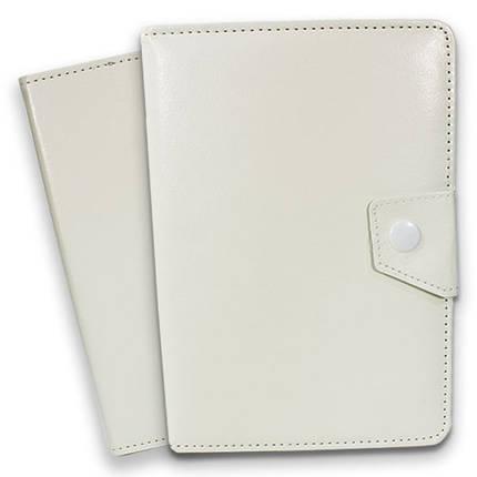 Чехол подставка универсальный для планшета 7 дюймов Samsung Lenovo Xiaomi на скобах (Белый), фото 2